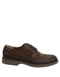 Bass Pearson Suede And Leather Wingtip Oxfords Brown