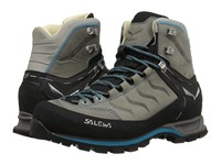 Salewa Mountain Trainer Mid L Pewter Ocean Women's Shoes Gray