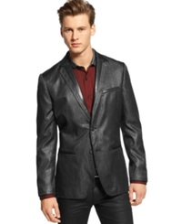 Bar Iii Jacket Faux Leather Collar Blazer