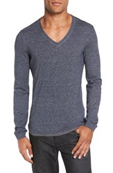 Boss Men's 'Berger' Slim Fit V Neck Sweater Navy
