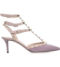 Valentino Rockstud 65 Patent Leather Courts Lilac