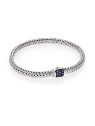 John Hardy Classic Chain Sapphire And Sterling Silver Extra Small Bracelet