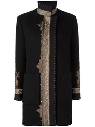 Etro Embroidered Pattern Sports Coat Black