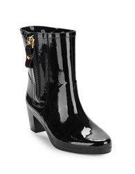 Kate Spade Penny High Heel Rubber Ankle Rain Boots Black