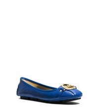 Michael Kors Fulton Leather Moccasin Electric Blue