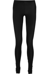 Majestic Stretch Cotton And Cashmere Blend Leggings Black
