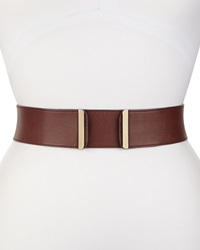 Valentino Wide Leather Belt Burgundy