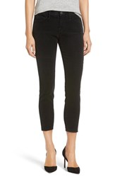 Current Elliott Women's 'The Stiletto' Crop Skinny Corduroy Pants Washed Black