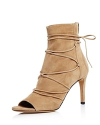 Vince Adisa Open Toe High Heel Booties Sand