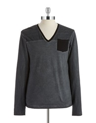 William Rast Space Dyed Pullover Charcoal
