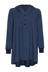 James Lakeland Oversized Hooded Jumper Denim