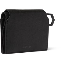Lanvin Full Grain Leather Billfold Cardholder Black