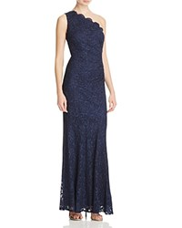 Decode 1.8 One Shoulder Lace Gown Navy