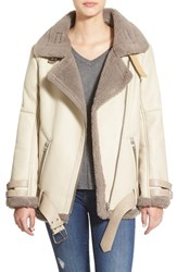 Women's J.O.A. Faux Leather Oversize Moto Jacket