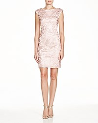 Sue Wong Sleeveless Lace Sheath Dress Rose