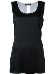 Twin Set Sheer Panel Vest Black