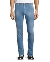 Moschino Five Pocket Slim Fit Jeans Denim Blue Women's