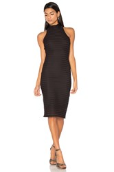 Twenty Mesh Crochet Turtleneck Dress Black