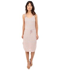 Splendid Huntington Stripe Rib Dress Heather Grey Sunkissed Pink Women's Dress