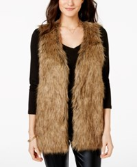 Xoxo Juniors' Faux Fur Leopard Print Vest White