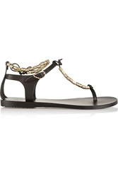 Ancient Greek Sandals Chrysso Beaded Leather Sandals