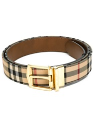 Burberry 'House Check' Belt Nude And Neutrals