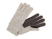 Ugg Calvert Glove With Smart Glove Leather Palm Oatmeal Heather Dress Gloves Beige