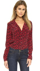 Equipment Adalyn Blouse Cherry Red