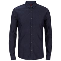 Hugo Men's Ero3 Long Sleeve Shirt Dark Blue