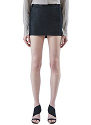 Ilaria Nistri Leather Mini Skirt Black