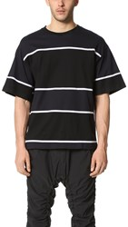 White Mountaineering Contrasted Border Tee Black