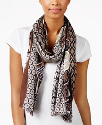 Inc International Concepts Chinois Tile Printed Wrap Only At Macy's Neutral