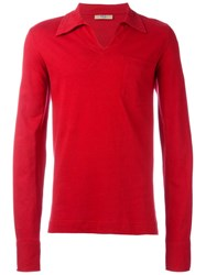 Romeo Gigli Vintage Chest Pocket Polo Shirt Red