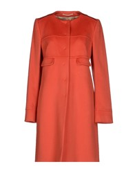 Fabrizio Lenzi Coats And Jackets Full Length Jackets Women Rust
