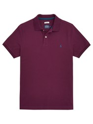 Joules Woody Slim Fit Polo Shirt Dark Purple