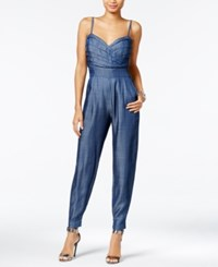Guess Pleated Chambray Jumpsuit Rinse Wash