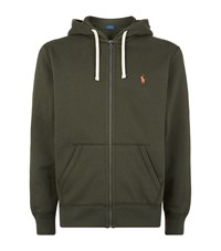 Polo Ralph Lauren Fleece Lined Zip Hoodie Male Green