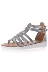 Alice And You Multi Strap Gladiator Sandal Silver