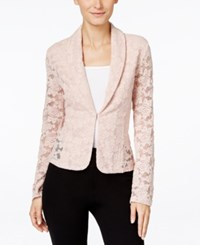 Inc International Concepts Lace Blazer Only At Macy's Shy Blush