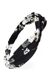 Forever 21 Floral Headwrap Black Cream