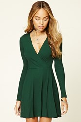 Forever 21 Ribbed Knit Surplice Dress