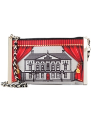 Love Moschino Illustrative Print Cross Body Bag Red