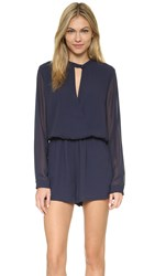 And B Signature Romper Navy