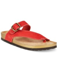 White Mountain Henri Footbed Sandals A Macy's Exclusive Style Women's Shoes Red