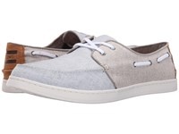 Toms Culver Lace Up Light Blue Beige Chambray Men's Lace Up Casual Shoes White