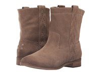 Toms Laurel Boot Amphora Burnished Suede Women's Pull On Boots Brown