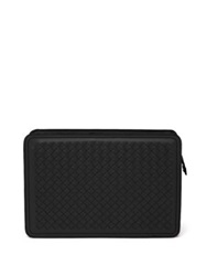 Bottega Veneta Woven Leather Cosmetic Case Black