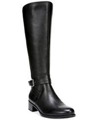 Naturalizer Wynnie Tall Wide Calf Riding Boots Women's Shoes Black