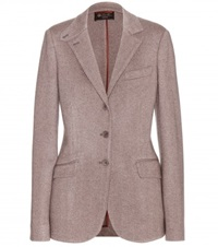 Loro Piana London Bridge Herringbone Cashmere Blazer Grey