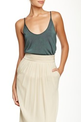 Giorgio Armani Scoop Neck Knit Tank Green